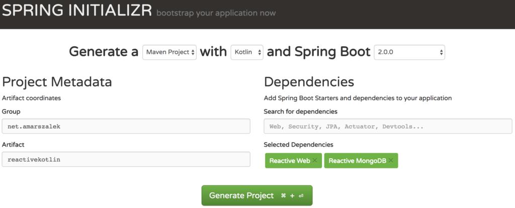 kotlin spring boot 2 initializer