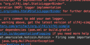 logging in kotlin